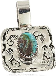 قلادة 165 دولار من النيكل المعتمد نافاجو الطبيعية الفيروزي من أمريكا الأصليين 12811-1 مصنوعة من قبل لوما سيفا