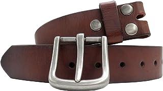 أحزمة حزام جلد البقر للرجال من جلد البقر حزام حبوب كاملة قابلة للإزالة مشبك حزام حزام حزام من الجينز