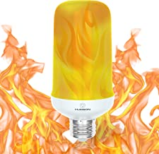 LED Flickering Flame Light Bulbs: E26 Standard Base Flame Bulb - Upside Down Effect - 3W - 200 Lumen - Single Mode – Energy Efficient Flaming Fire Lights for Indoor/Outdoor Use - 1 pack
