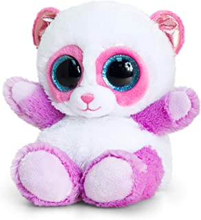 Keel Toys 15 Cm Animotsu Pink And Lilac Panda Stuffed Toy, For 3 Years