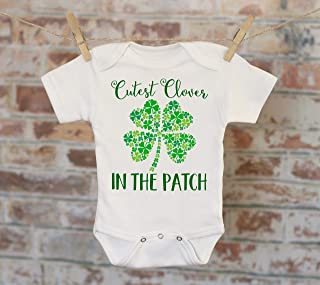 Cutest Clover St. Patrick's Day Onesie - Luck of the Irish St. Patty's Day Baby Shower Gift Boho Baby Creeper Onepiece