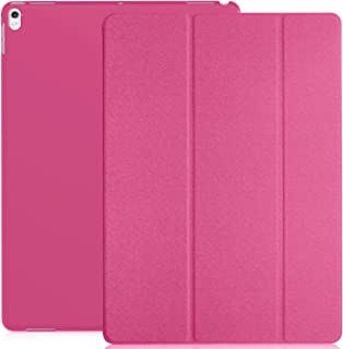 KHOMO iPad Pro 12.9 Inch Case - 2017 Version - Dual Twill Pink Super Slim Cover with Rubberized Back and Smart Feature (Built-in Magnet for Sleep/Wake Feature) for Apple iPad Pro 12.9 Inches Tablet