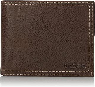 Levi's portafolios delgada plegable para hombre – Piel genuina casual delgada con capacidad extra y ventana de identificación