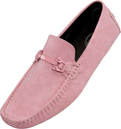 99ebca309cd5 Amali Mens Smooth Faux Leather Casual Driving Shoe with Buckle, Comfortable  Easy Slip-On