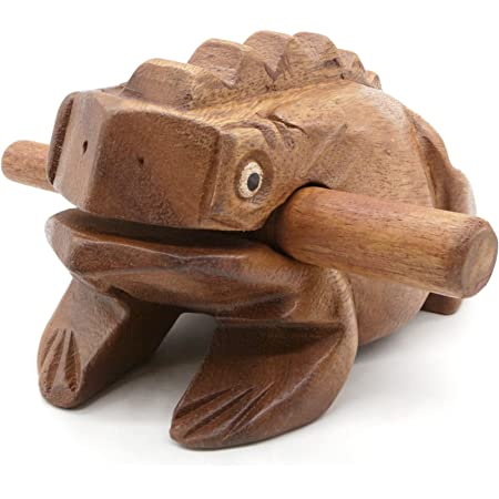 Wooden Frog Rasp Musical instruments of Africa Frog Rasp Super Guiro (6 Inch)
