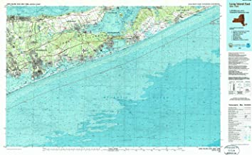 YellowMaps Long Island East NY topo map, 1:100000 Scale, 30 X 60 Minute, Historical, 1984, Updated 1988, 24.1 x 39.9 in