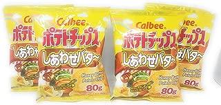 Calbee Honey Butter Potato Chips 80g, 4 Pack