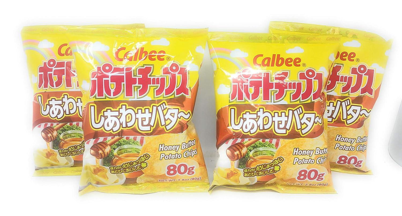 Calbee Honey Butter Potato Pack Over item handling Chips 4 New popularity 80g