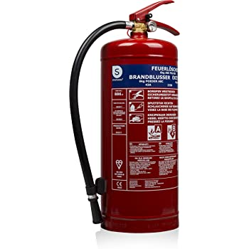 Smartwares 10.014.72 (BB6) Extintor de Polvo seco, 6 kg, Resistencia al Fuego ABC, Incluye Soportes, Rojo