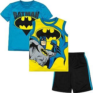Batman the Dark Knight Rises Outfit Set T-Shirt+Shorts #30002 Size S-XL age 3-10
