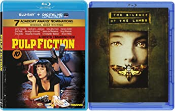 Pulp Fiction Blu Ray & Silence of the Lambs Movie Edition Thriller Bundle