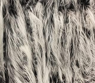 Faux Fur Fabric Long Pile Gorilla Grey Frost / 60