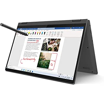 "Lenovo Flex 5 14"" 2-in-1 Laptop, 14.0"" FHD (1920 x 1080) Touch Display, AMD Ryzen 5 4500U Processor, 16GB DDR4, 256GB SSD, AMD Radeon Graphics, Digital Pen Included, Win 10, 81X20005US, Graphite Grey"