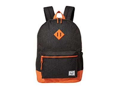 Herschel Supply Co. Kids Heritage Youth XL Backpack (Youth) (Black Crosshatch/Firecracker) Backpack Bags