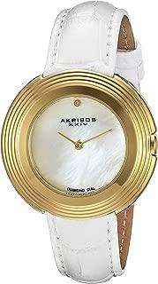 Akribos XXIV Women's AK876SS Dial Leather Strap Watch