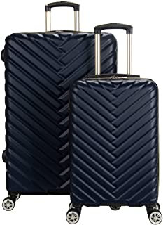 """Kenneth Cole Reaction Madison Square Hardside Chevron Expandable Luggage, Navy, 2-Piece Set (20"""" & 28"""")"""