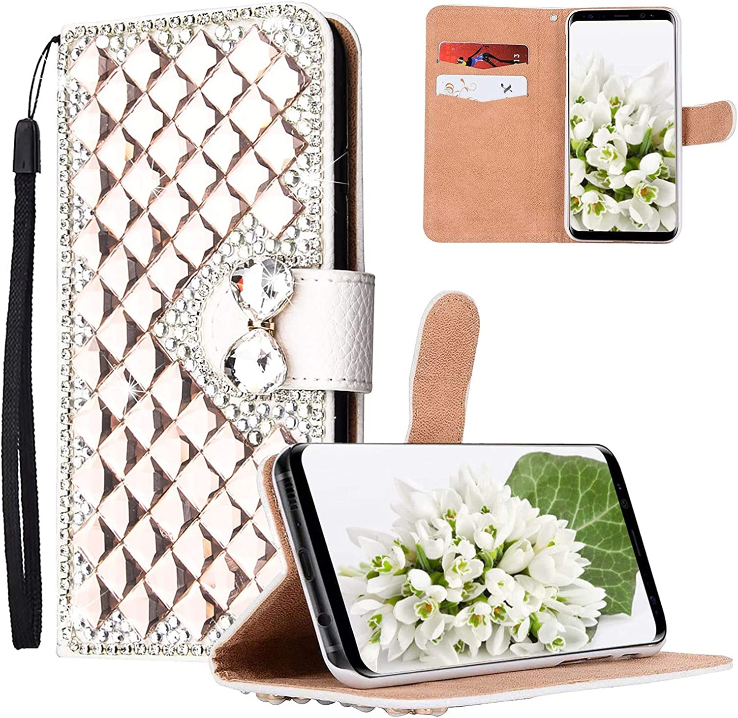 Yewos Compatible with Samsung shipfree 5 ☆ very popular Galaxy S21 R Women for Wallet Case