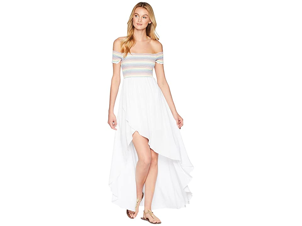 Show Me Your Mumu Willa Maxi Dress (White Cruise/Rainbow) Women