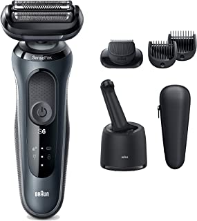 Braun Electric Razor for Men, Series 6 6075cc SensoFlex Electric Shaver with Beard Trimmer,...