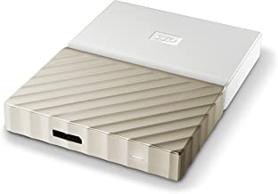 WD 2TB White-Gold My Passport Ultra Portable External Hard Drive - USB 3.0 - WDBFKT0020BGD-WESN