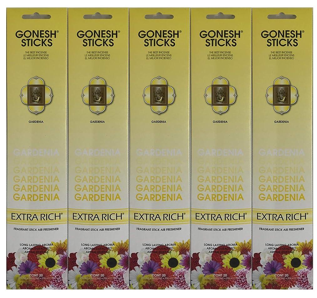 動力学連続的エイリアンGonesh お香スティック エクストラリッチコレクション - Gardenia 5パック (合計100本)