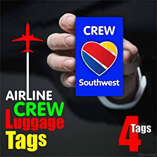 southwest airlines crew luggage tags