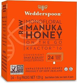 Wedderspoon 100% Raw Manuka Honey KFactor, 24 Count