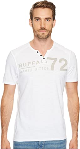 Buffalo David Bitton Narwayne Slit Neck Henley Shirt