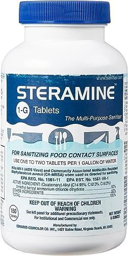 Steramine Quaternary Sanitizing Tablets, Case of 6