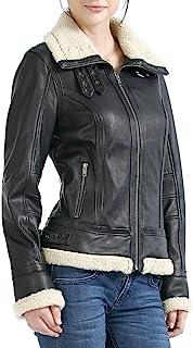 BGSD Women`s Brittany Lambskin Leather Jacket (Regular & Plus Size & Petite)
