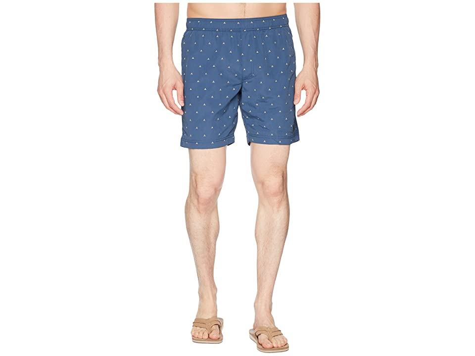 The North Face Class V Pull-On Trunk Short (Shady Blue Tent Print) Men