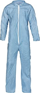 Lakeland Pyrolon Plus 2 Flame-Resistant Coverall, Disposable, Open Cuff, 2X-Large, Blue (Case of 25)