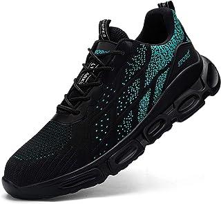 Ziboyue Zapatos de Seguridad para Hombre Mujer Transpirable Ligeras con Puntera de Acero Calzado de Zapatos de Trabajo Ind...