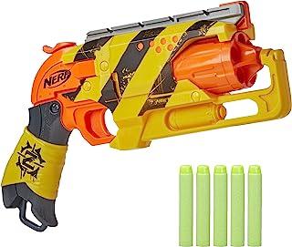 Nerf Zombie Strike Hammershot Blaster -- Pull-Back Hammer-Blasting Action, 5 Official Nerf Zombie Strike Darts -- Stripes ...