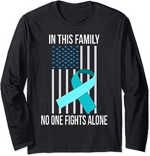 USA Flag Light Blue Ribbon Adoption Foster Care Awareness Long Sleeve T-Shirt