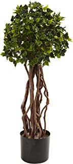 Nearly Natural 5397 English Ivy Topiary UV Resistant Tree, 2.5-Feet, Green