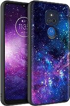 BENTOBEN Moto G Play 2021 Case, Slim Fit Glow in The Dark Soft Flexible Bumper Protective Shockproof Anti Scratch Non-Slip Cute Cases Cover for Motorola Moto G Play 2021 Version, Nebula/Galaxy