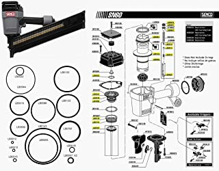 O Ring Replacement Rebuild Kit For Senco Framing Nailer SN60 SN65