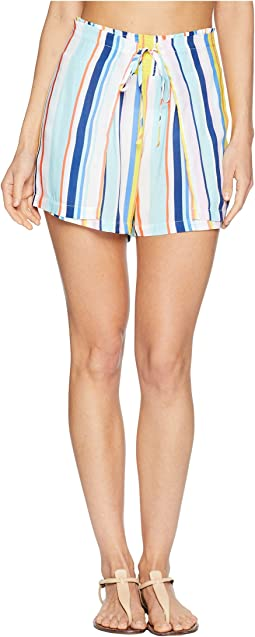 Amalfi Coast High-Waist Wrap Shorts Cover-Up
