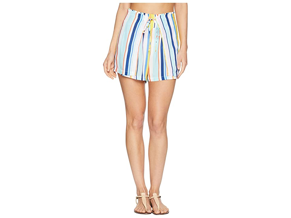 Nanette Lepore Amalfi Coast High-Waist Wrap Shorts Cover-Up (Multi) Women