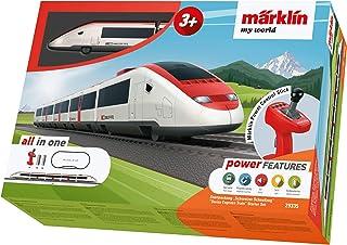"""Leksaksvägbana Märklin my world 29335 – startpaket """"schweizisk snabbtåg"""", modellbana spår H0 startset"""