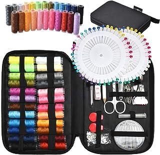 Tuxwang Kit de costura con 130 piezas Accesorios de costura