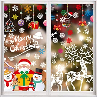 Decoration Noel Autocollant Vitre Noel Stickers Fenetre P/étillant de Lumi/ère, DIY Deco de Noel Caiery 105 PCS Brillant Argent No/ël Autocollant Fenetre P/étillant de Lumi/ère