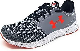 Under Armour Boys UA BPS Drift RN Shoe (6 M US Little Kid, Steel/White/Red)