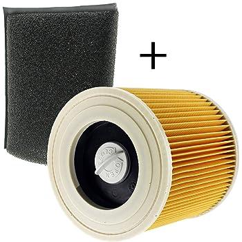 Spares2go filtro de espuma para aspiradora Karcher (Pack de 3 ...