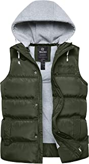 Women's Quilted Puffer Vest Thicken Warm Winter Coat with...