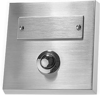 Perilla Home Kit de sonnette de porte filaire en fer avec bouton poussoir Finition vintage d/écorative Installation facile