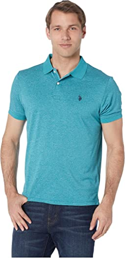 Marled Poly Polo-41