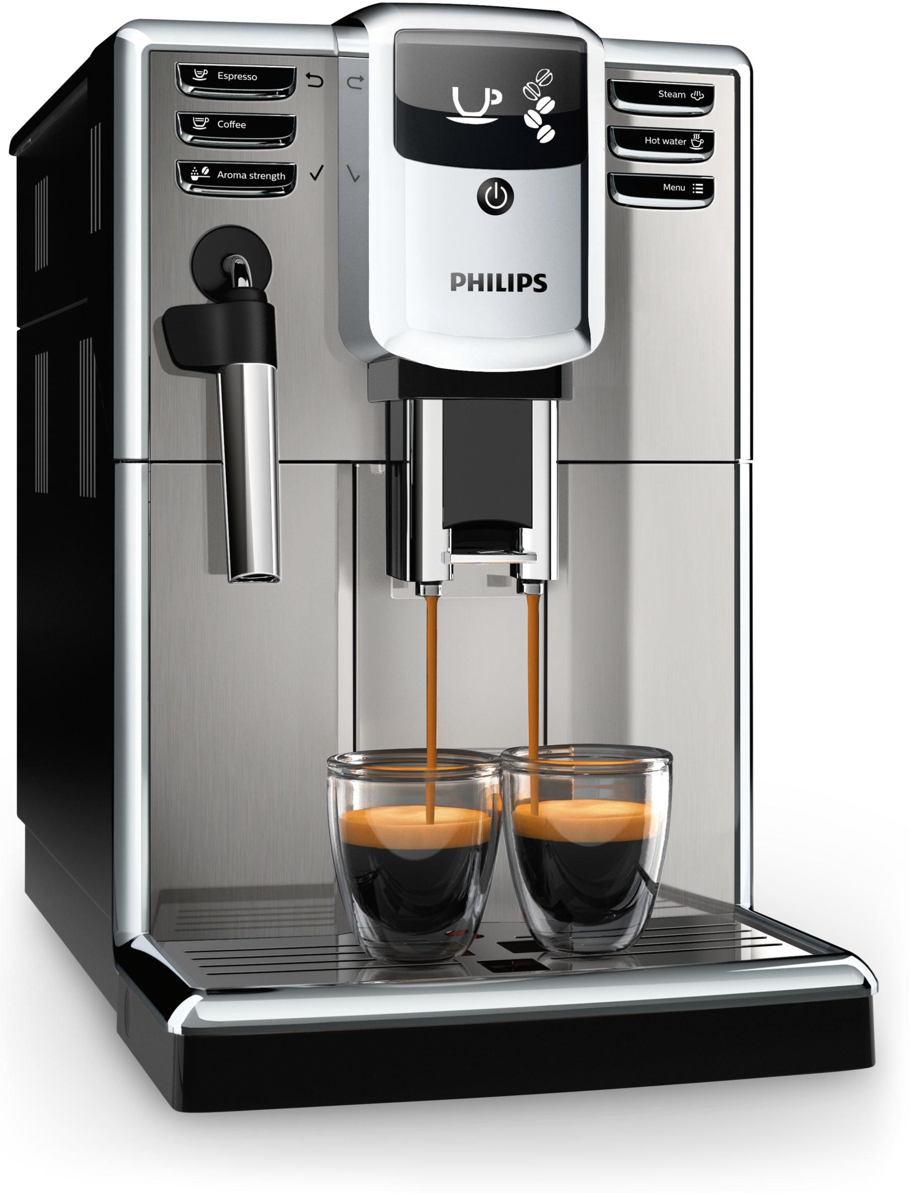 Philips 5000 series - Cafetera (Independiente, Máquina espresso, 1,8 L, Granos de café, Molinillo integrado, Negro, Acero inoxidable): Amazon.es: Hogar