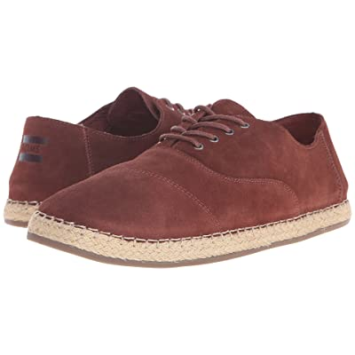 TOMS Camino Lace-Up (Chestnut Brown Suede) Men